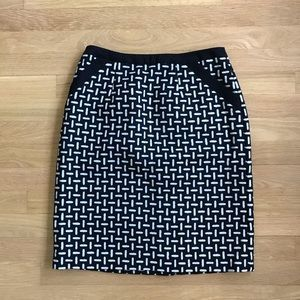 TALBOTS wool black and white pencil skirt